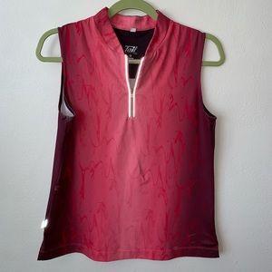 Tail Sleeveless Tech Sz Med Golf/Tennis Shirt